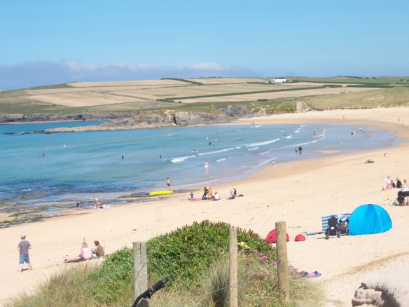 A perfect summer beach day at Constantine Bay