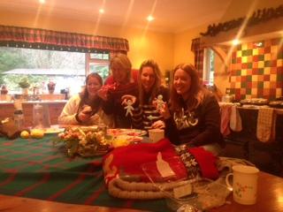 Making Christmas biscuits with my sisters and mum