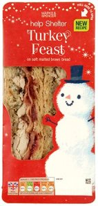 Marks & Spencer Christmas sandwich